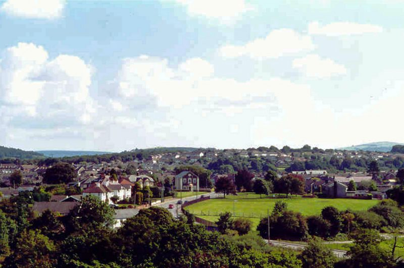 View over Pontyclun from Brynsadler