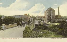Old photo of brewery in Brynsadler