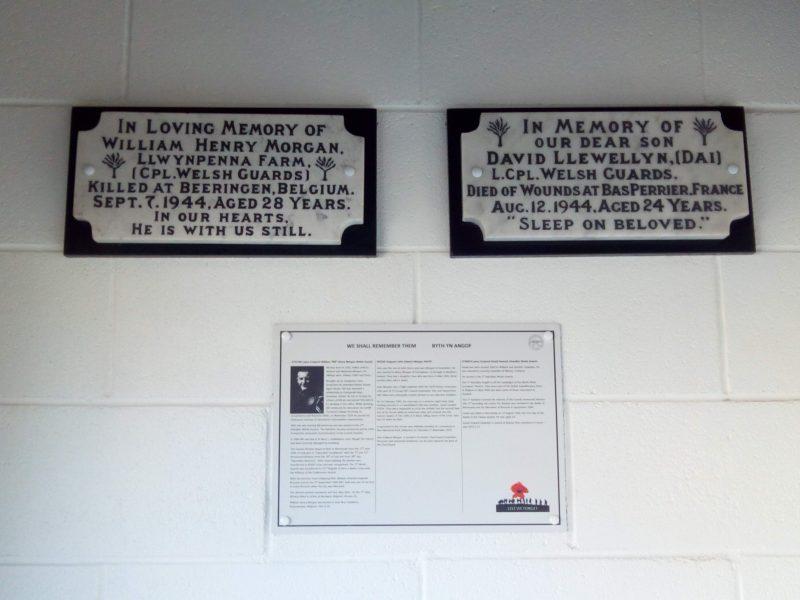 Groesfaen Remembrance plaques