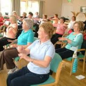 Ladies doing armchair exercise