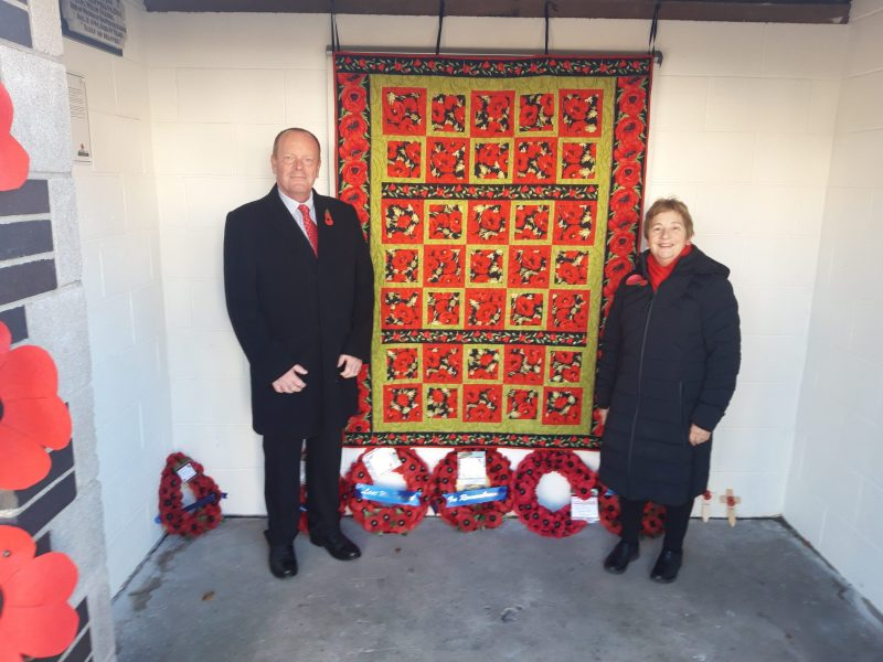Groesfaen Dedication of remembrance plaques Nov 2019
