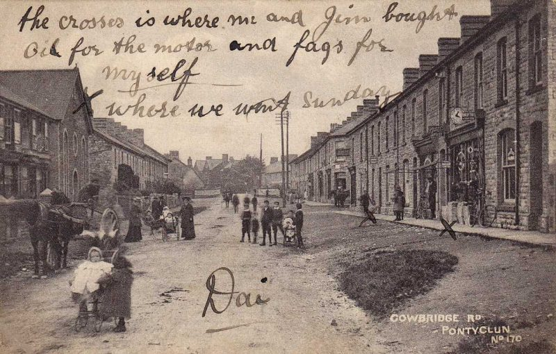 Pontyclun, Cowbridge Road in 1910